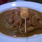 Curry rice et oeufs de caille