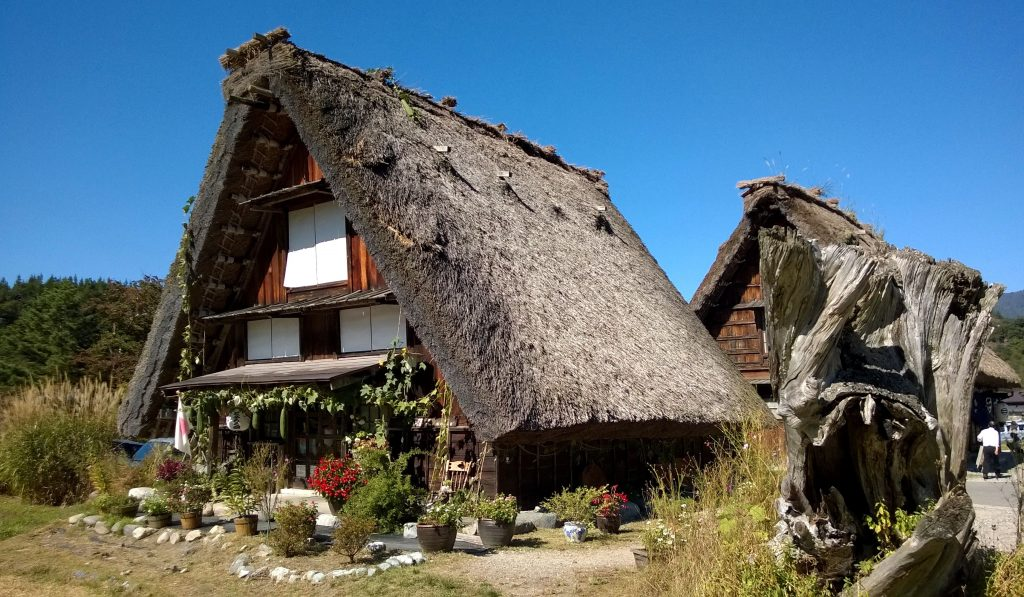 Thatched roof houses in Shirakawago
