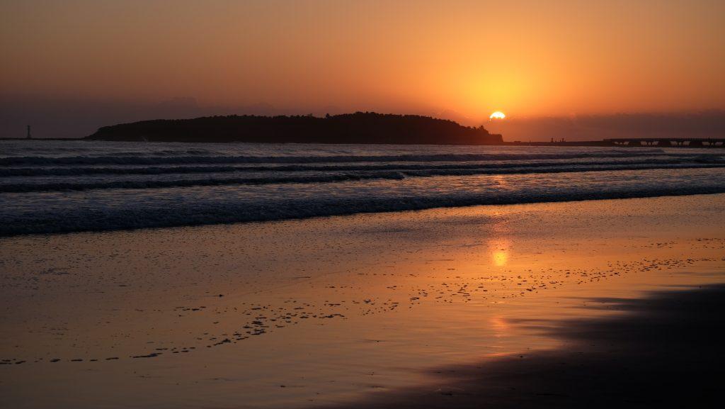 Sunrise on Aoshima beach